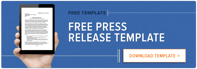 how to write a press release free press release template example